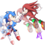 Sonic vs Knuckles by Elcamaron