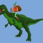Dino rider by Tomsan