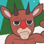Rudolph The Red Nosed Reindeer by creepyboy