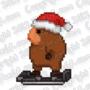 16-Bit Hoverboard w/ Santa Hat by WaldFlieger