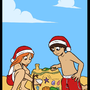 Christmas on the Beach by Aigis