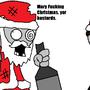 Drunken Santa... by Madnesscrazy123