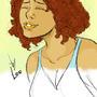 sketch girl by peixeaquatico