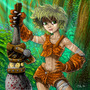 Jungle Girl by poxpower