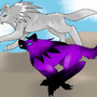 KuraiCabalos and GrayWolf by DarkDragonEclipse