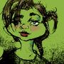 Grumpy Green Shroom by Bumbleshroom