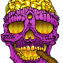 GOLDSKULL-SMOKEBLUNTS by peanutbutterclawk