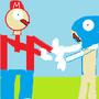 Mario vs Sonic by zorrob