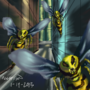 Alien Wasp Invasion by oladitan