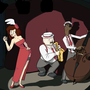 Jazz Trio by fluffkomix
