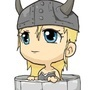 Chibi Viking woman by Twoputridpeople