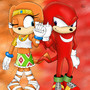 Knuckles and Tikal by DJaxsNG
