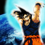 Goku - Spirit Bomb by fadedshadow