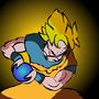 Goku (Super Saiyan Kamehameha) by PebbleStudios