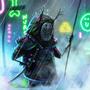 rainy samurai by RootsenSneeky