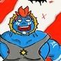 happy blue berserk by Jabalclown