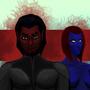 Azazel & Mystique by Tarteviant