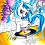 Vinyl Scratch-splosion by Muffyn-Man