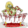zombie blood bath by LittleNerdyGem