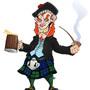Grinning Scottish Leprechaun