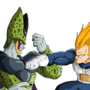 Cell vs Vegeta by Dakuto