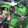 Bulkhead and Miko by Tahkyn
