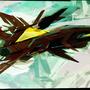 The Red Bird by Trez-Treize