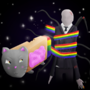 Nyan Cat Vs. Slender Man by SkovMH