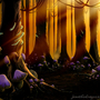Enchanted Woods at Sunset by Jess-The-Dragoon
