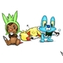 Starter Pokemon Generation VI by MylesAnimated