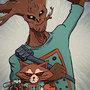 CA: Rocket Raccoon and Groot by CroMagg