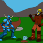 Shovelknight & Pickaxe Warrior by Martin-Q9119262