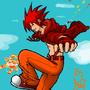 Zack Blazestorm -19 yr old by MangaArtistEX