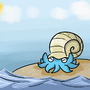 Pokeddex Day 6 - Omanyte by Chocobogirl