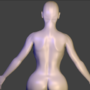 backshot of human character by 2d3dwhatever