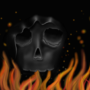 skull fire by bumygum