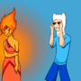 Flame princess teases Finn by plasmatic0