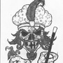 great milenko skull--tat desig by jwaphreak