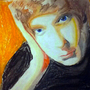 Chalk Pastel Self Portrait by 372