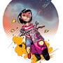 rocket girl by kid-scribbles