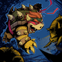 Teenage mutant ninja Bowser by kid-scribbles