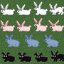 Bunny Sprites Larger by CrookedCartridge