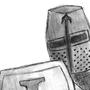Knight -Pencil- by magicswordz