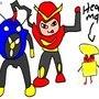 Mega Man faces off the robots2