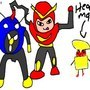 Mega Man faces off the robots2 by Wegra