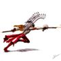 Horseless Winged Hussar Gunner by Galejro