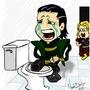Thor Trolling Loki by nandobentzen
