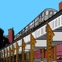 Elevated train by sfzapgun