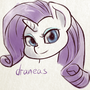 Rarity doodle by draneas