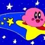 Kirby's surfing Warp Star by Joecool597
